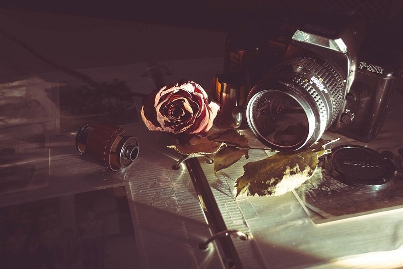 Aparat fotograficzny i album do zdjęć